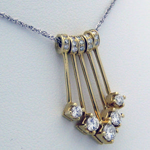 Diamond Pendant Sliders 14karat Yellow Gold