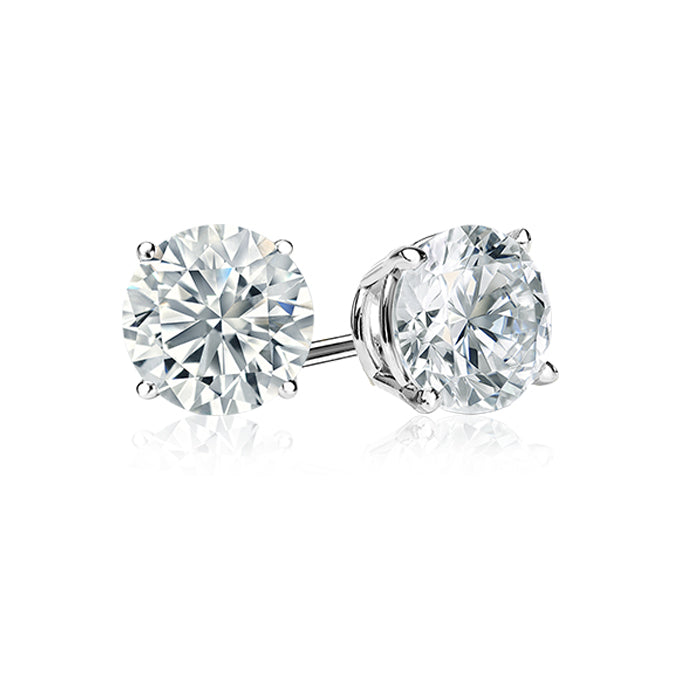 Diamond Stud Earrings .60Ct Tw. White Gold