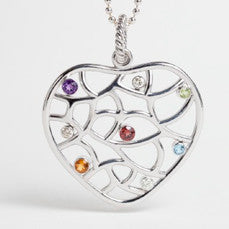 Te Amo Collection Natural Multicolor, Diamond Sterling Silver