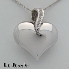 Diamond Heart in White Gold