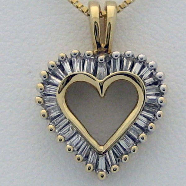 Diamond Heart 14karat Yellow Gold Small