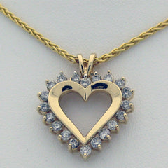 Diamond Heart 14karat Yellow Gold