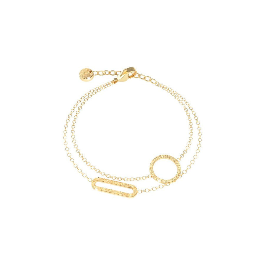 Rebecca Bracelet Sterling with Gold Plating