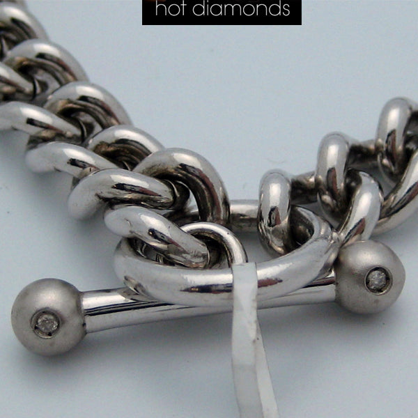 Sterling Silver Hot Diamonds Necklace