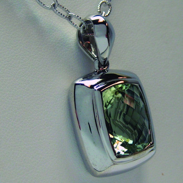 white amethyst in cut ctw necklace pointed gold green briolette pendant
