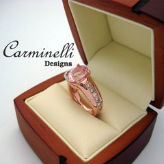 Rose Gold Diamond Ring Carminelli Designs
