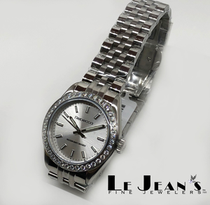 Rebecca Stainless Steel Watch with Crystals on Bezel