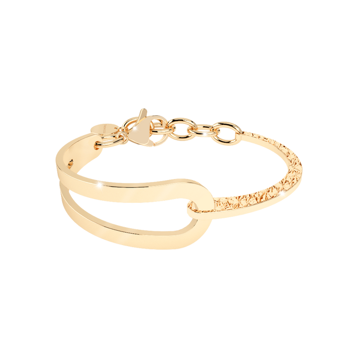 Bronze Bracelet With 18K Gold Plating by Rebecca