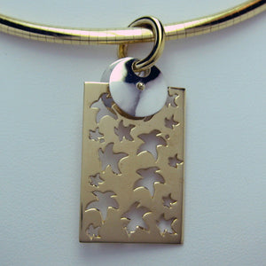Carminelli Pendant Gold and Sterling Silver