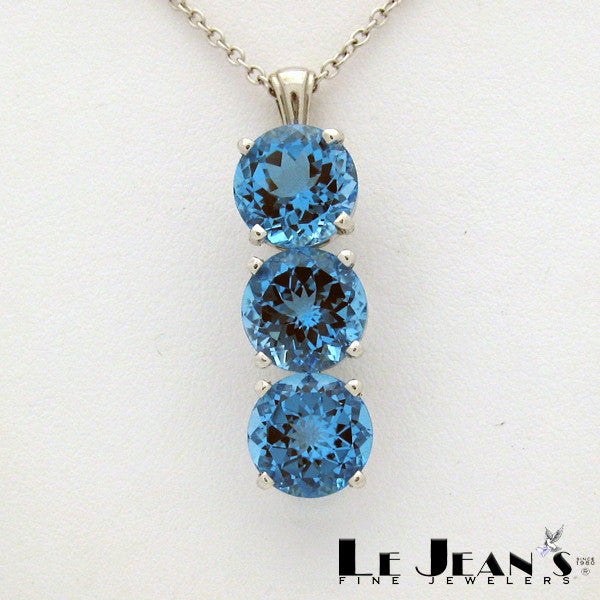 Swiss blue topaz pendant white gold lejeans fine jewelers swiss blue topaz pendant white gold aloadofball Gallery