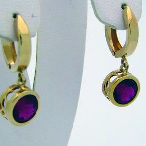 Tourmaline Earrings Dangle Earrings 14k