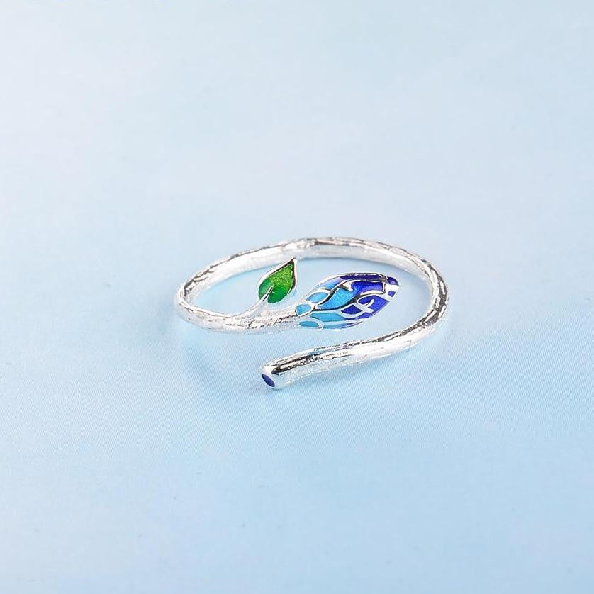 Elm Leaf Silver Ring