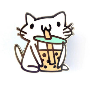 Boba Squiggle Cat Pin
