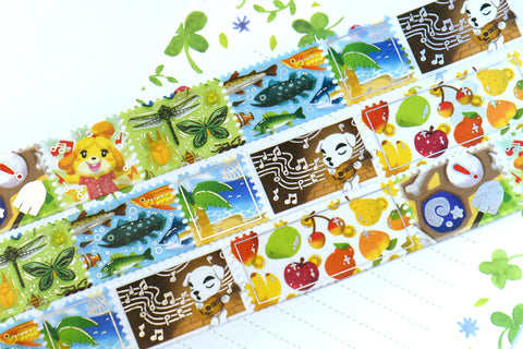 Animal Crossing New Horizons Foil Stamps Washi Tape