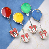 Animal Crossing Balloons Present Pin