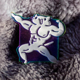 Buff Squiggle Cat Pin