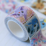 Eeveelutions Foil Stamps Washi Tape