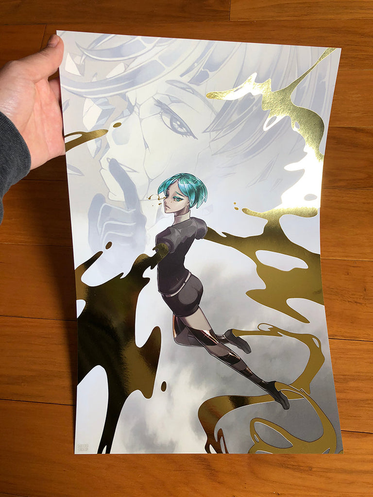 Phos and Antarcticite Gold Foil Print