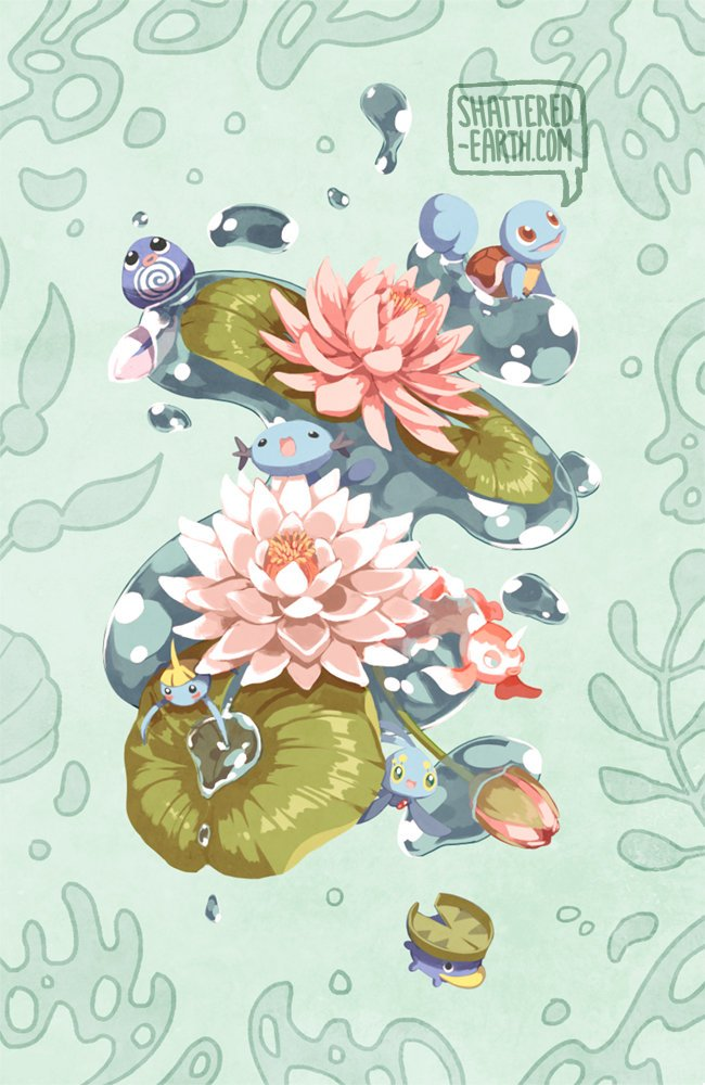Floral Pokemon Prints