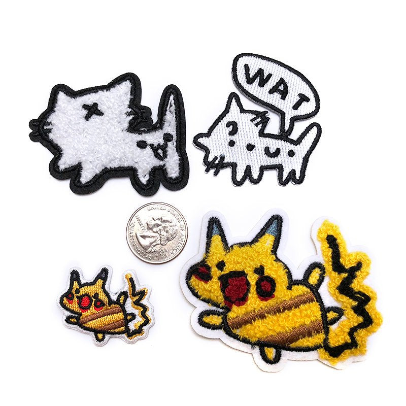 Squiggle Cat Patches