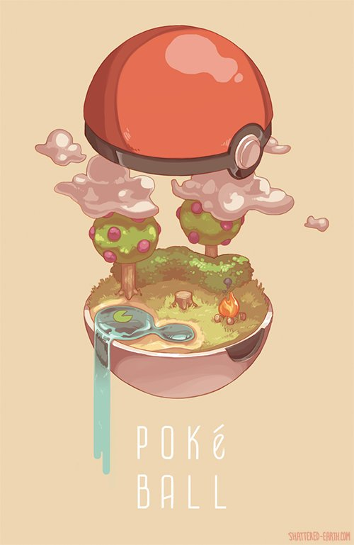 Pokeball Interiors Prints