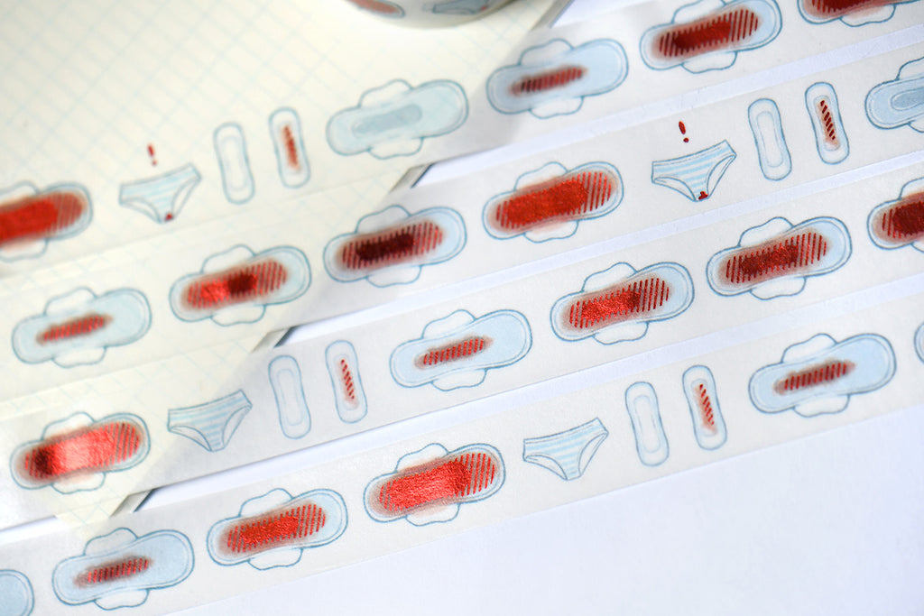Period Time Red Foil Washi Tape