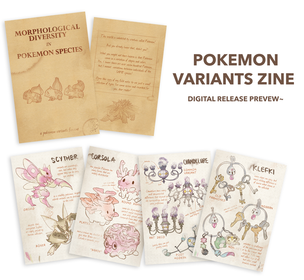 Pokemon Variants Vol. 1 [DIGITAL ZINE]