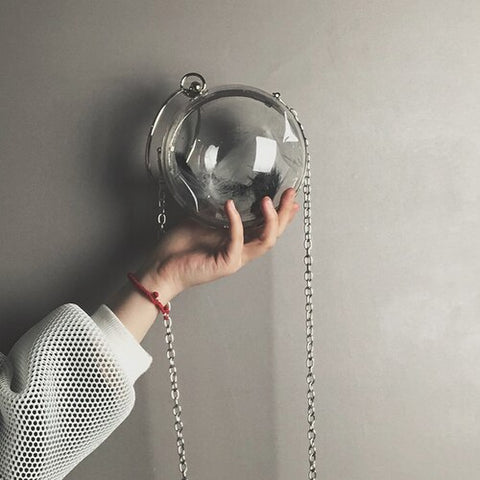 Designer Transparent Small Round Bag - Just Cool Stuffs