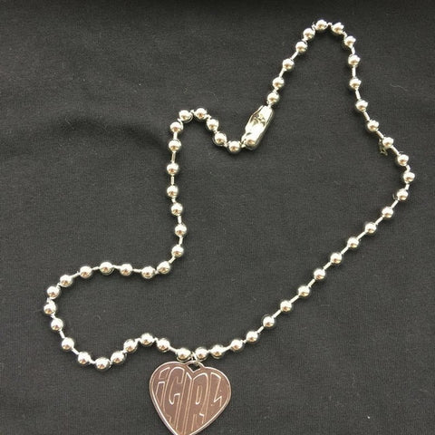 Vintage 90s girl Heart Pendant Necklace - Just Cool Stuffs