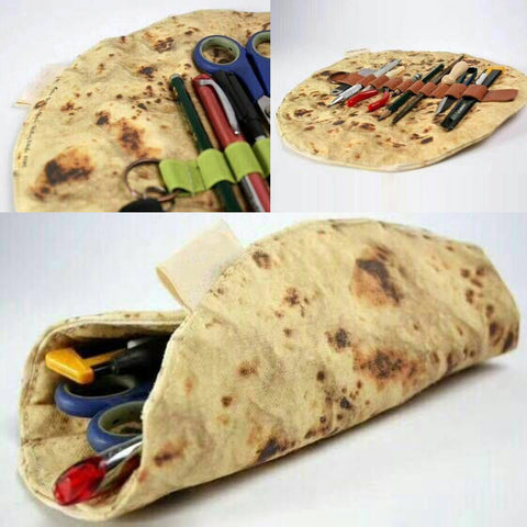 Pancake Pizza Stationery Rolled Collection Bag - Just Cool Stuffs