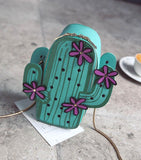 Cute Green Cactus Shape Bag - Just Cool Stuffs
