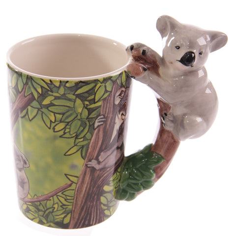 1Piece Koala Bear Australian Endangered SPECIES Handle Creative Ceramic Mugs Novelty Coffee Mug Jungle Cute Animals C - Just Cool Stuffs