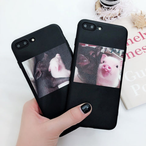 Funny Cartoon Pig Print Pattern Phone Case - Just Cool Stuffs