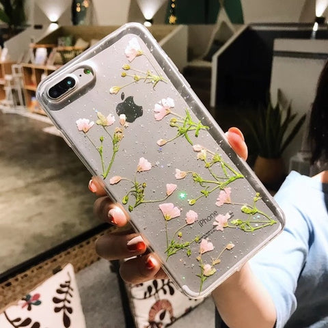 Real Flowers Dried Flowers Soft TPU Back Cover Case - Just Cool Stuffs