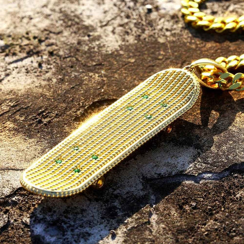 Stone Skateboard Pendant Necklaces - Just Cool Stuffs