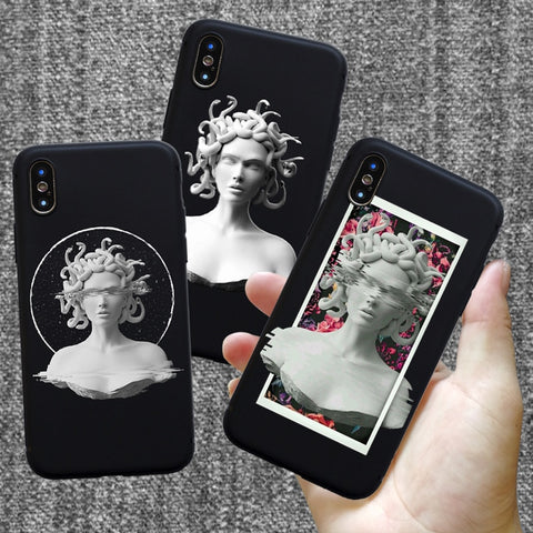 Medusa Vaporwave Glitch Art Coque case cover - Just Cool Stuffs