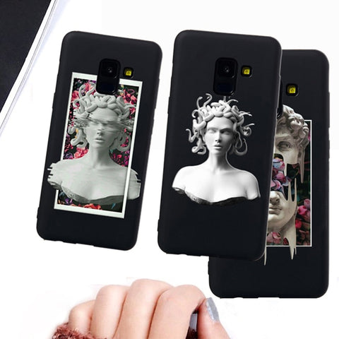 Medusa Vaporwave Glitch Art Coque Phone For Samsung S6 S7 case - Just Cool Stuffs
