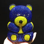 Bear shape Crystal Clutch Party Cocktail Evening Bag - Just Cool Stuffs