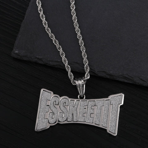 Personalized ESSKEETIT Pendant Necklace - Just Cool Stuffs