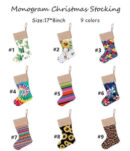 Pattern Christmas Stockings