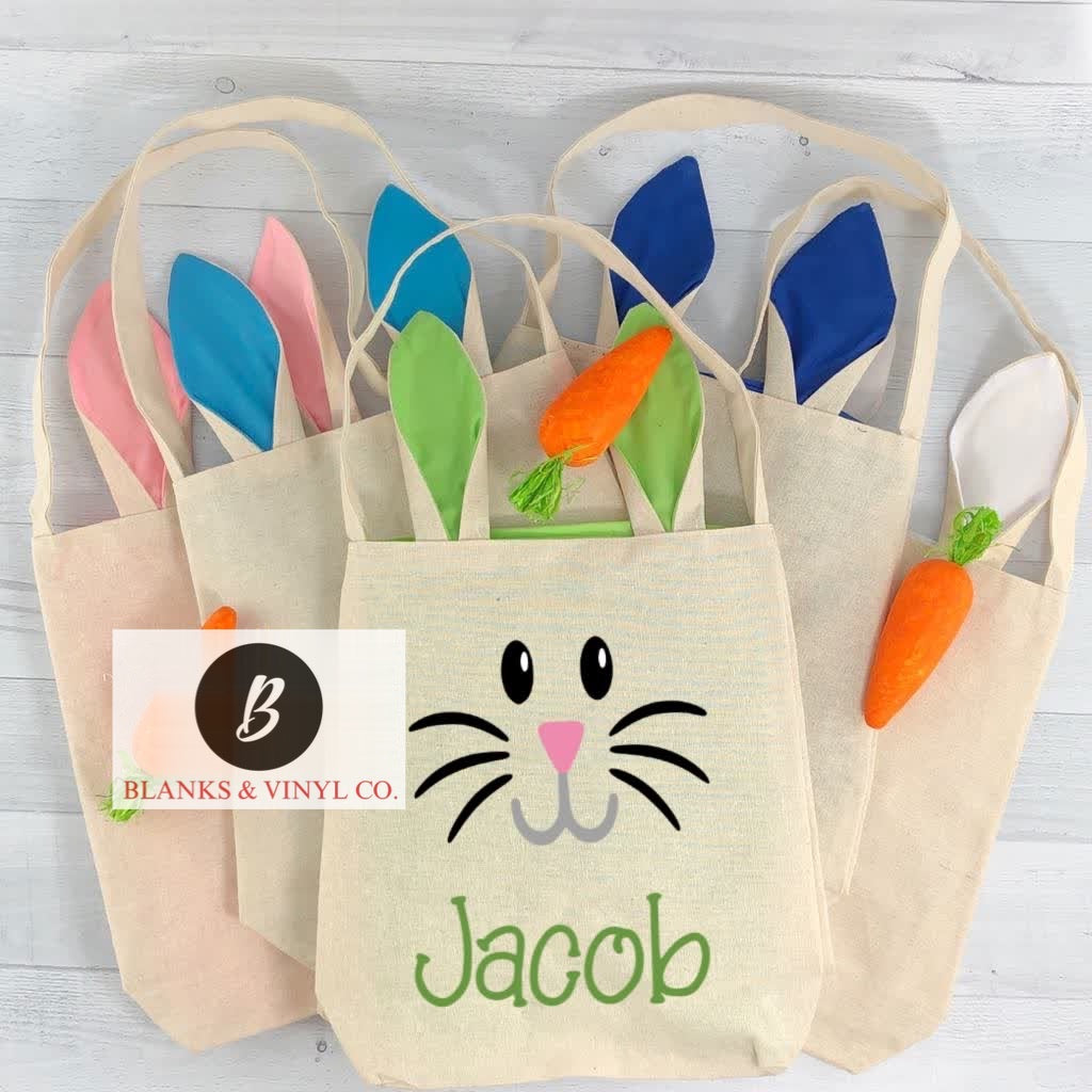 Canvas Bunny Ear Bags