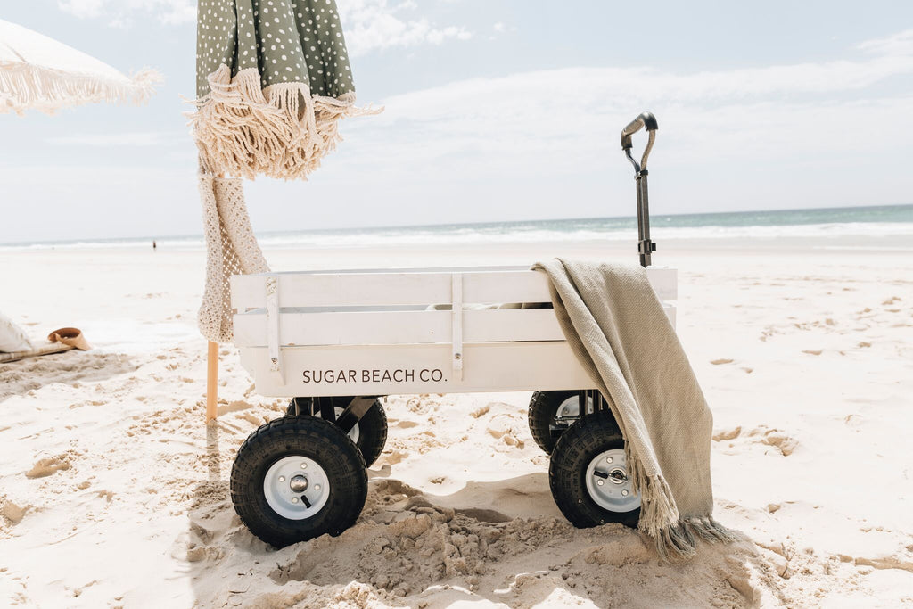 Rustic White Beach Cart