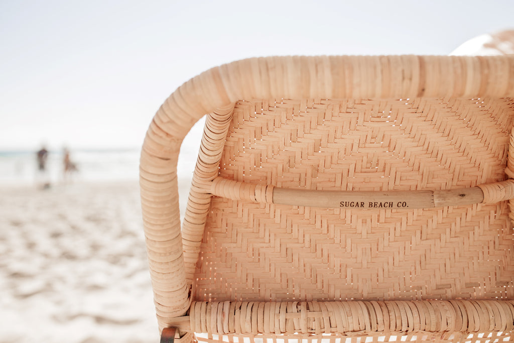 Rattan Beach Lounger - Duo