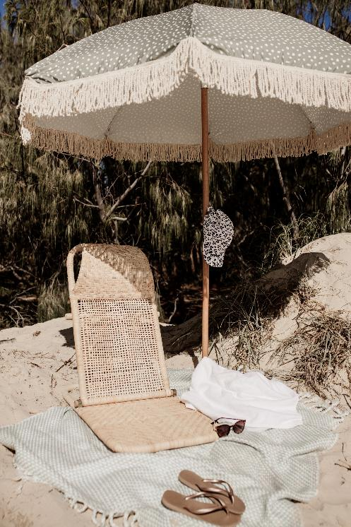 Rattan Beach Lounger