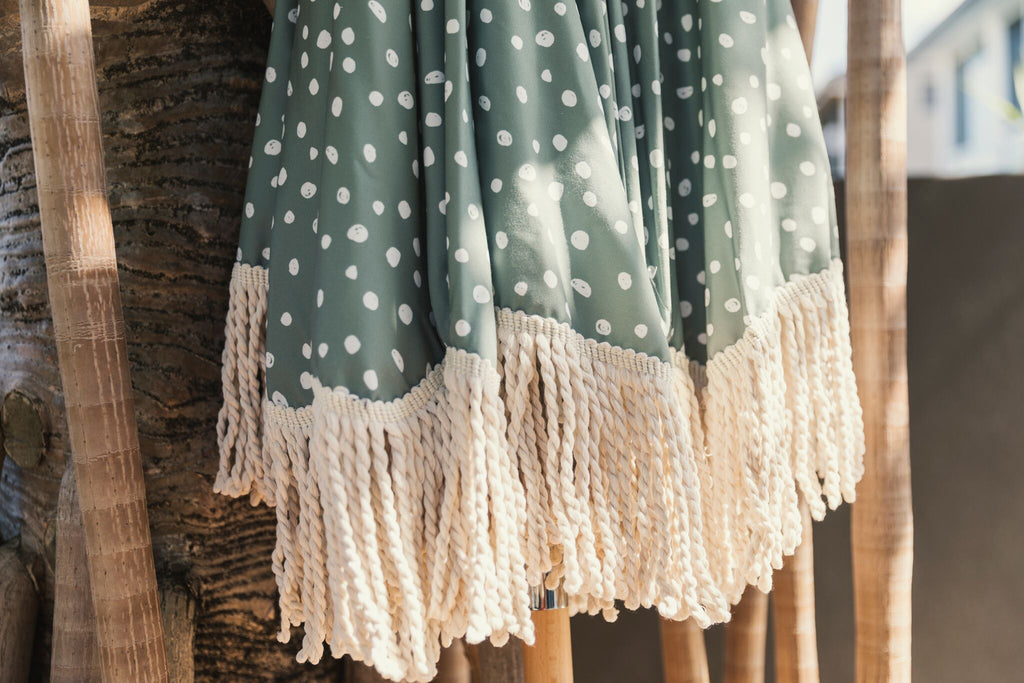 Sage Limited Edition Tassel Beach Umbrella