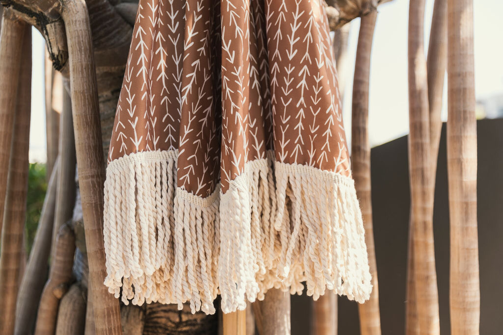 Tan Limited Edition Tassel Beach Umbrella