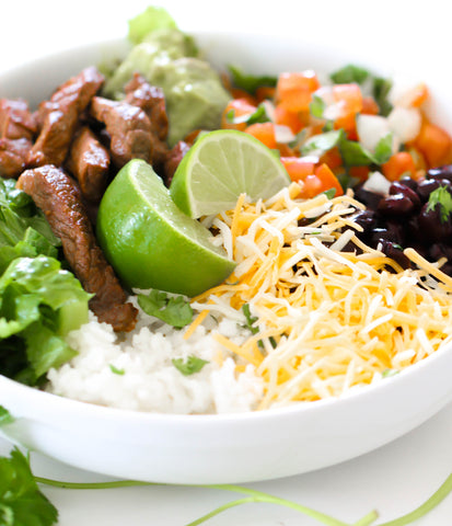 Steak, White Rice & Black Beans
