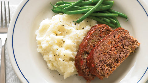 Beef Meatloaf & Mashed Potatoes