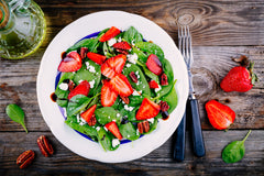 Spinach and Strawberry Chicken Salad