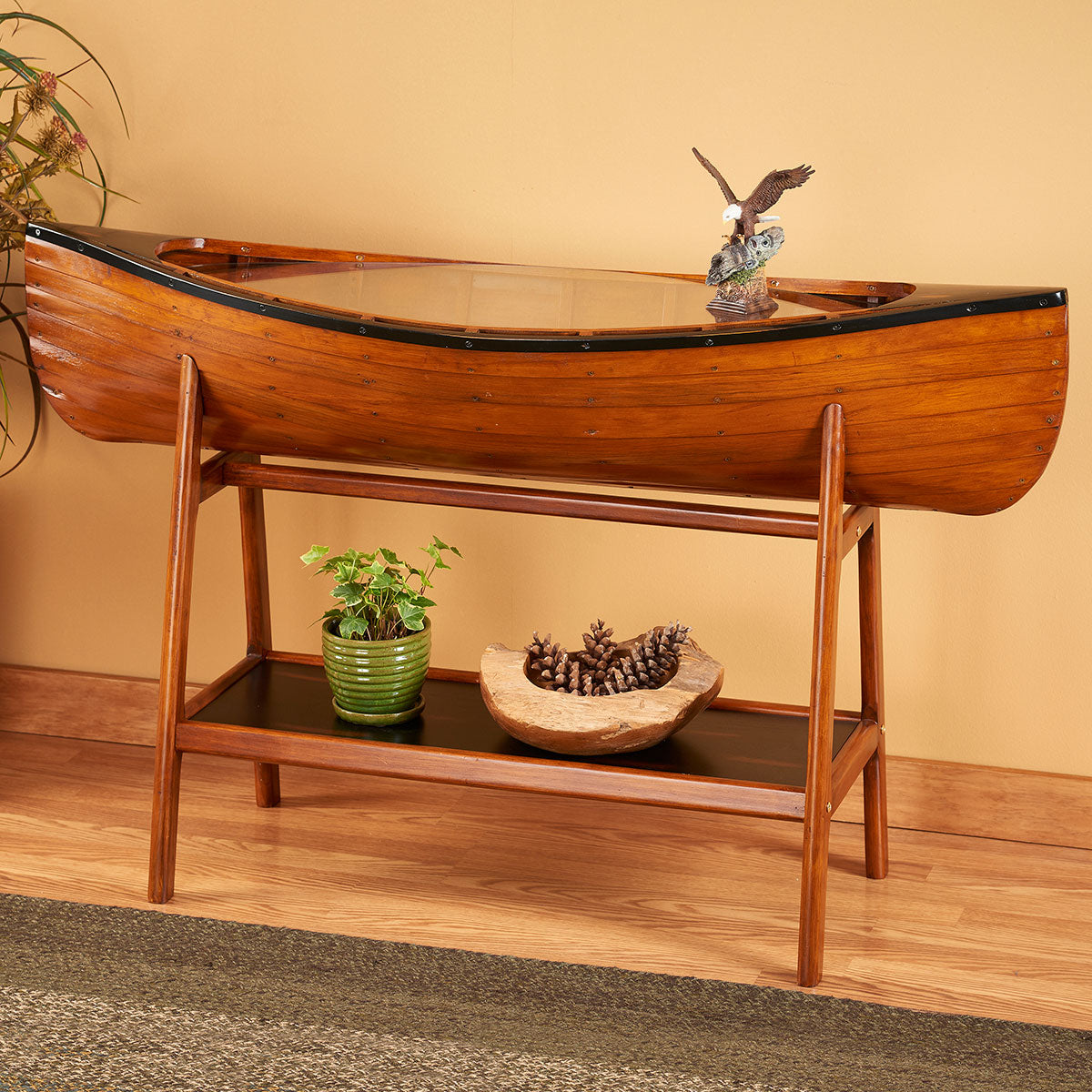 rustic-canoe-side-table-ideas